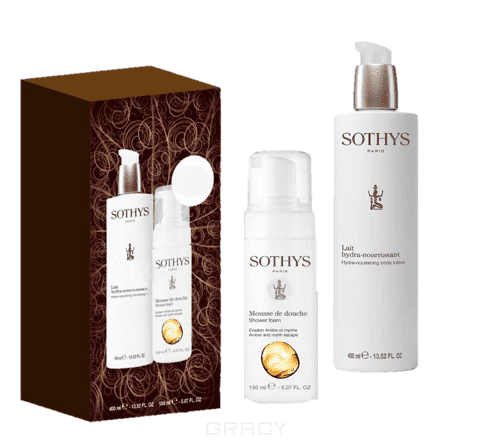 Sothys, Набор для тела 2018: Пена для ванн Shower Foam 150 мл + Hydra-Nourishing Body Lotion Крем-эмульсия для тела