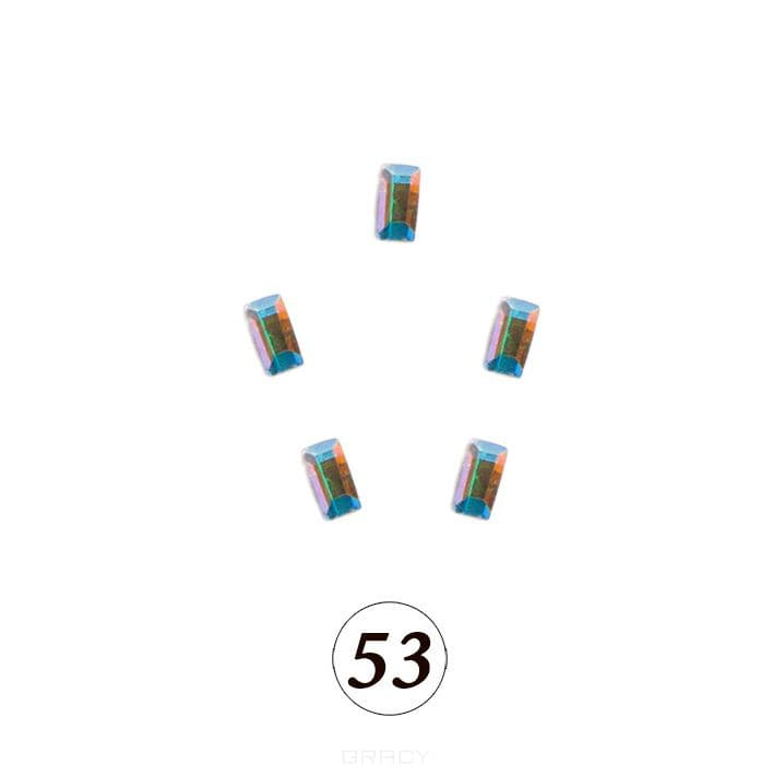 Купить Planet Nails, Цветные фигурные стразы в ассортименте (76 видов), 5 шт/уп Планет Нейлс №53