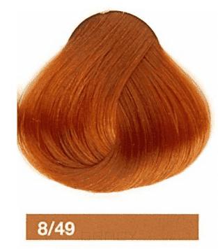 Lakme, Перманентная крем-краска Collage, 60 мл (99 оттенков) 8/49 Блондин медно-красный  - Купить