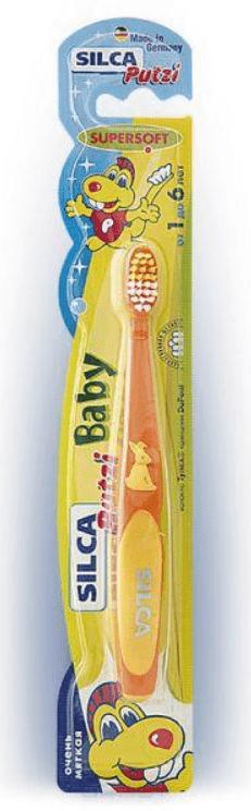 Silca, Зубная щетка детская Putzi Baby (1-6 лет) silca med набор зубная паста со вкусом колы щетка с 6 лет цвет зеленый
