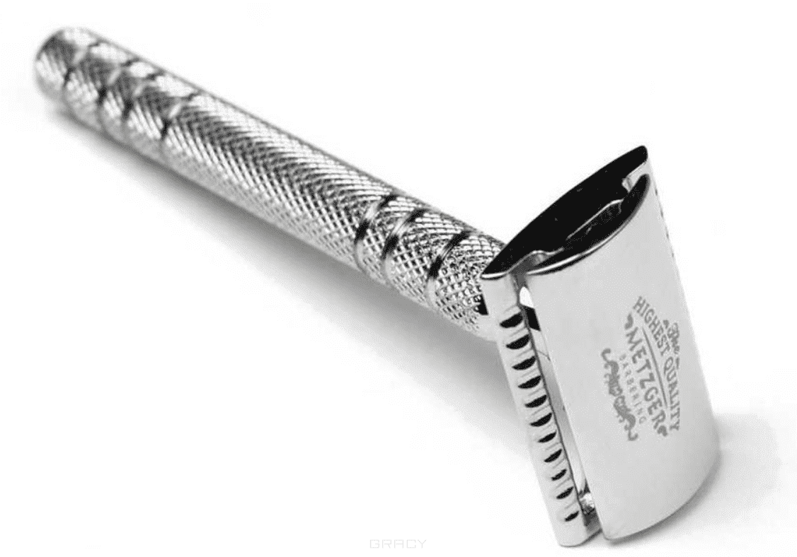 цена на Безопасная бритва с двойным лезвием и латунным основанием (Chromed) DB-14532