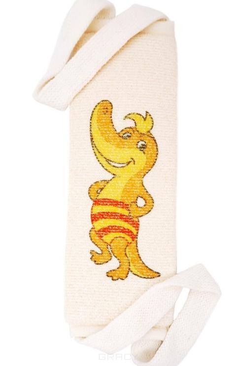 Купить Vival, Мочалка детская длинная из хлопка с рисунком (4 вида)