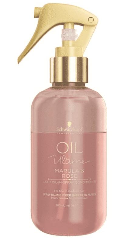 Спрей-кондиционер для тонких и нормальных волос Oil Ultime Light Oil In Spray Conditioner, 200 мл moroccanoil масло light для светлых или тонких волос 200 мл