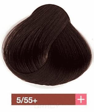 Lakme, Перманентная крем-краска Collage, 60 мл (99 оттенков) 5/55+ Светлый шатен интенсивный махагоновый be hair be color 12 minute light chestnut mahogany краска для волос тон 5 5 светлый шатен махагоновый 100 мл