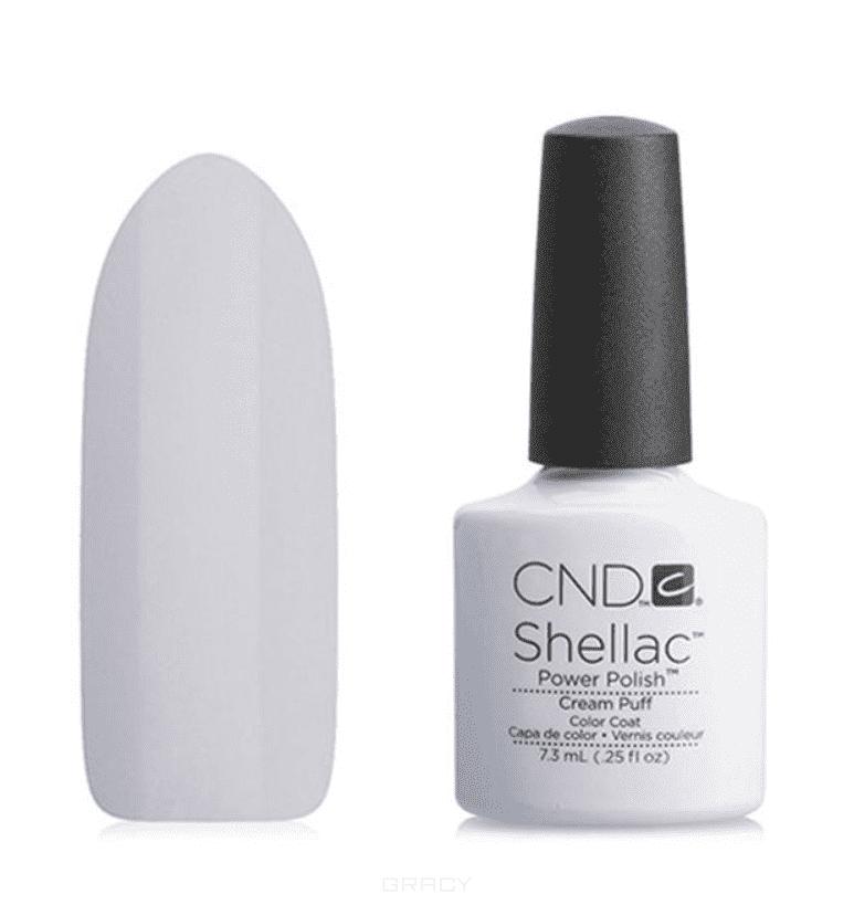 CND (Creative Nail Design), Гель-лак UV Shellac шеллак (58 оттенков) 001 Cream Puff педикюр с покрытием shellac