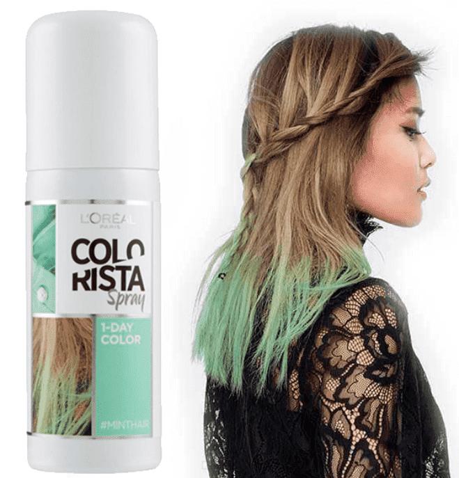 L'Oreal, Краска спрей в баллончиках на 1 день Colorista Spray 1-Day, 75 мл (7 оттенков) 3 мятный abs 1 75 3d 395m