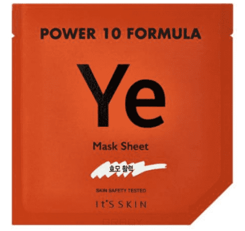 It's Skin, Тканевая маска Пауэр 10 Формула, эластичность Power 10 Formula Mask Sheet YE, 25 мл joyo jf 329 iron loop digital phrase looper guitar effect pedal true bypass guitar pedal guitar accessories