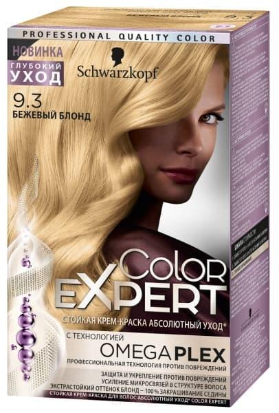 Schwarzkopf Professional, Краска для волос Color Expert (22 оттенков) 9.3 Бежевый блонд schwarzkopf professional краска для волос color expert 22 оттенков 3 0 черно каштановый 1 шт
