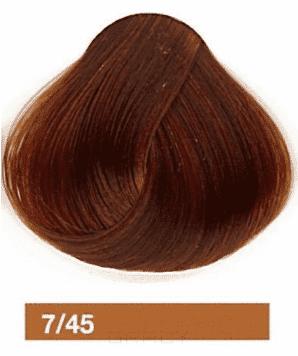 Купить Lakme, Перманентная крем-краска Collage, 60 мл (99 оттенков) 7/45 Средний блондин медно-махагоновыйй
