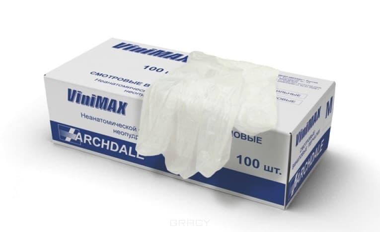 Igrobeauty, Перчатки виниловые неопудренные, Vini-Max, 100 шт, размер M, 100 штПерчатки<br><br>