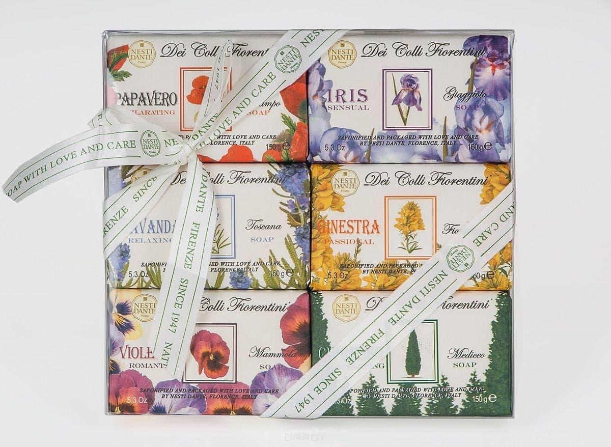 Nesti Dante, Набор мыла Цветочная коллекция, 6*150 грГели для душа, мыло, скрабы<br><br>