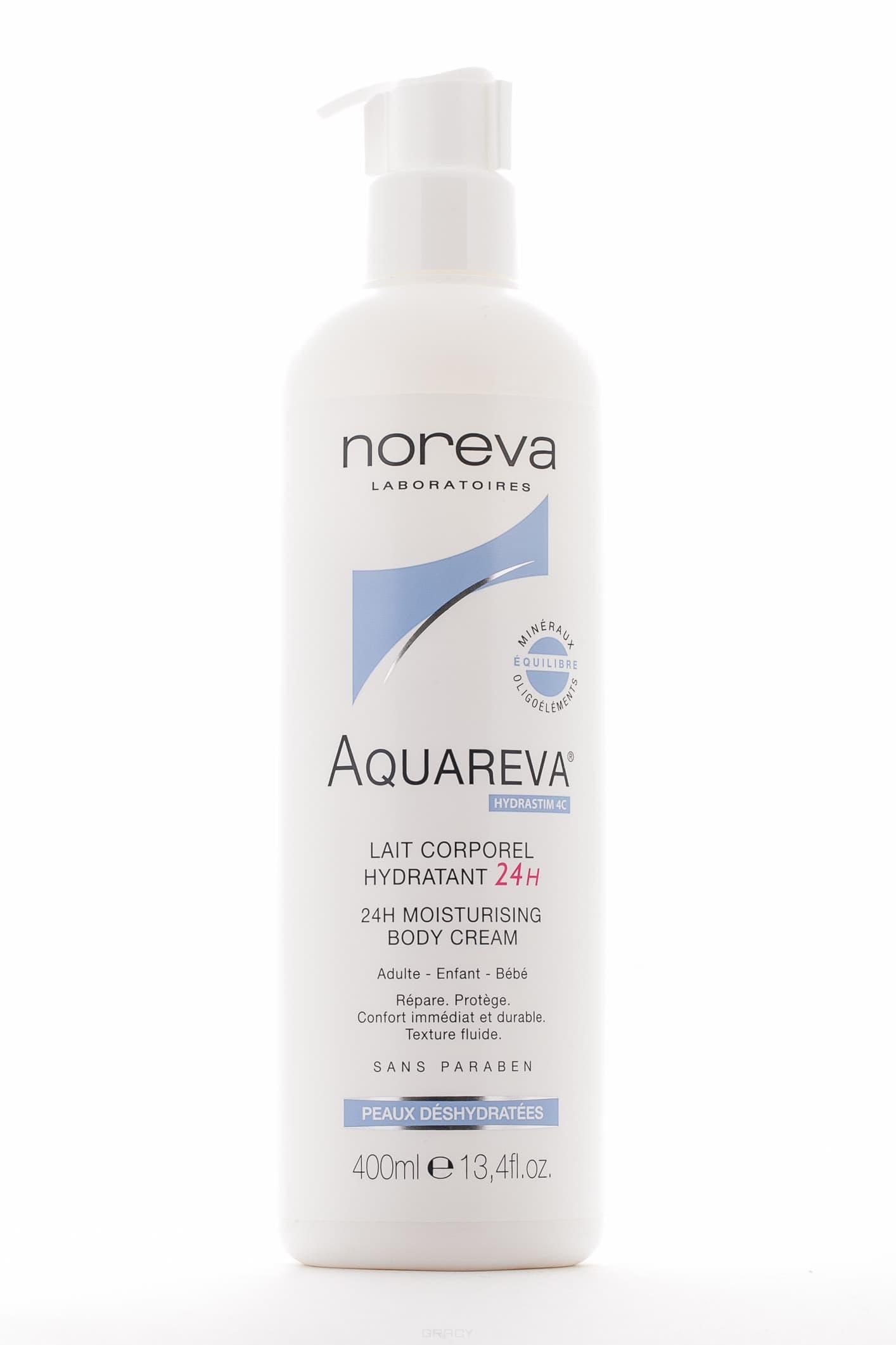 Noreva, Увлажняющие молочко для тела Aquareva, помпа, 400 мл noreva увлажняющая экспресс маска aquareva 50 мл