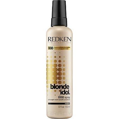 Купить Redken, Спрей-уход для светлых натуральных и окрашенных волос Blonde Idol BBB-Spray, 150 мл