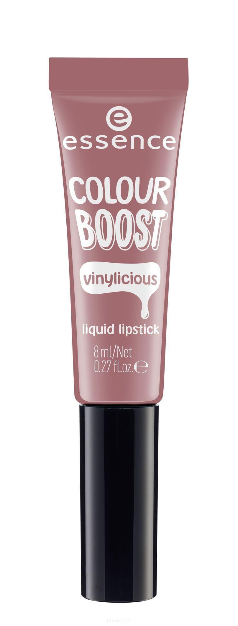 все цены на Essence, Жидкая губная помада Colour Boost Vinylicious Liquid Lipstick, 8 мл (6 тонов) №04, розовое дерево онлайн