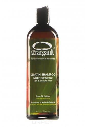 Kerarganic, Кератиновый шампунь безсульфатный для домашнего ухода, 473 мл kerarganic кондиционер восстанавливающий безсульфатный 473 мл