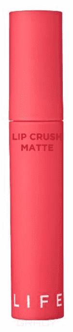 It's Skin, Матовая помада Лайф Калор Life Color Lip Crush Matte, 5 г (15 оттенков) 06 Drop The Beat жидкая помада it s skin life color lip crush matte 06 цвет 06 drop the beat variant hex name ee4e68