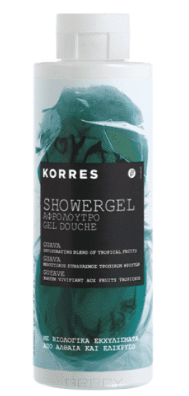 Korres, Гель для душа Гуава, 250 мл гель для душа korres shower gel water lily 250 мл