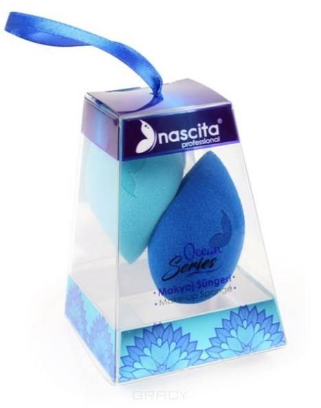 Фото - Nachita, Набор из 2-х спонжей для макияжа Make-up Sponge, средний размер, ocean series (417339) nachita набор из 2 х спонжей для макияжа make up sponge средний размер ocean series 417339