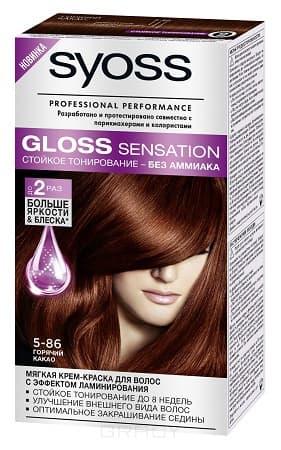 Syoss, Крем-краска для волос Gloss Sensation без аммиака, 115 мл (20 оттенков) 5-86 Горячий какаоОкрашивание<br><br>