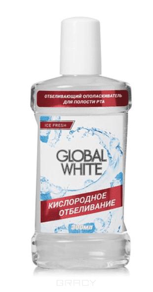 "Global White, Ополаскиватель отбеливающий ""Активный кислород"", 300 мл"