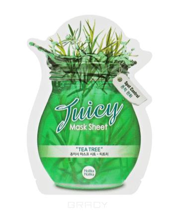 Маска тканевая для лица Сок чайного дерева Tea tree Juicy Mask Sheet, 20 млТканевая маска для лица с вытяжкой из листьев чайного дерева обладает мощным противоспалительным и бакторецидным действием, повышая кожный иммунитет. Увлажняет, освежает, тонизирует и придает свежести коже лица.&#13;<br>&#13;<br>  &#13;<br>&#13;<br>&#13;<br>Способ применения:&#13;<br>&#13;<br>На предварительно очищенную кожу аккуратно нанести маску, оставив ее на 10-15 минут. После снятия маски, кончиками пальцев похлопать по лицу для впитывания остатков влаги.&#13;<br>&#13;<br>&#13;<br>  &#13;<br>&#13;<br>&#13;<br>Особые компоненты:&#13;<br>&#13;<br>Лаванда и ромашка успокоят и нормализуют работу сальных желез, снимая раздражение. А экстракт чайного дерева уменьшит жирный блеск и наладит кровообращение.<br>