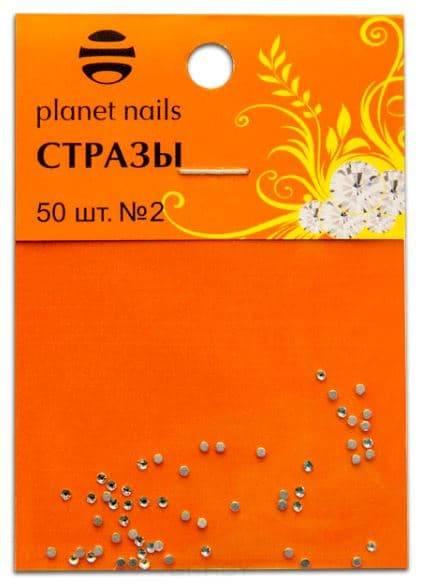 Купить Planet Nails, Стразы в пакете №2, 50 шт Планет Нейлс
