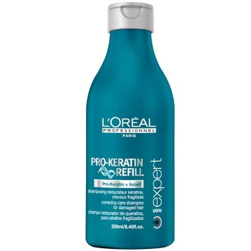 L'Oreal Professionnel, Восстанавливающий и укрепляющий шампунь с кератином Serie Expert Pro Keratin Refill Shampoo, 250 мл l oreal professionnel смываемый восстанавливающий и укрепляющий уход для поврежденных волос expert pro keratin refill 150 мл