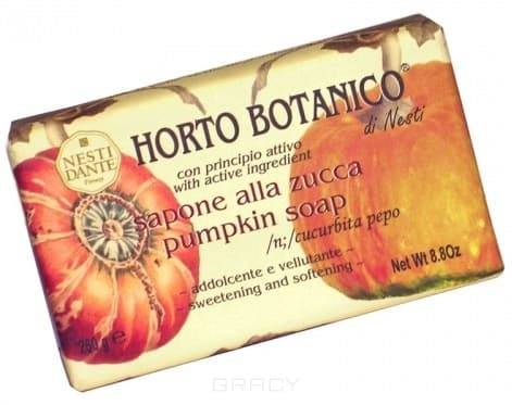 Мыло Тыква, 250 гр.NESTI DANTE Horto Botanico Тыква - это прекрасное кусковое мыло ручной работы из овощной коллекции. В мыле содержатся уникальные природные экстракты, а также тыквенная мякоть, содержащая в себе органические кислоты, - именно этот компонент отвечает за смягчение верхних слоев кожи. Для мыла также характерен приятный тонкий аромат.<br>