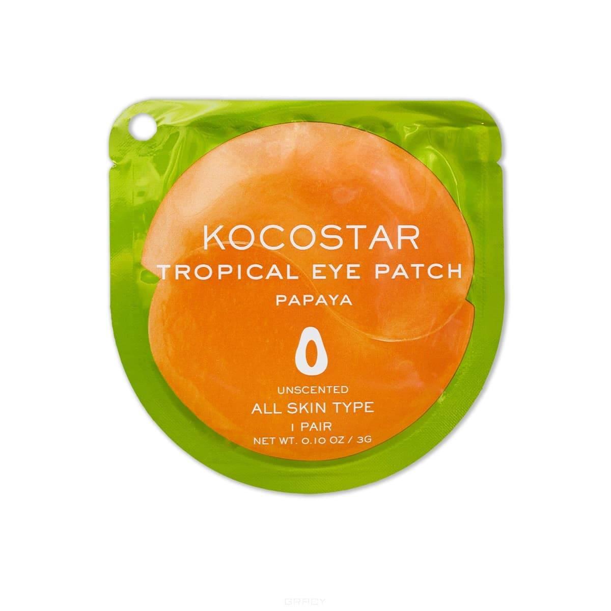 Купить Kocostar, Гидрогелевые патчи для глаз Тропические фрукты Папайя Tropical Eye Patch Papaya, 2 патча/1 пара, 3 гр