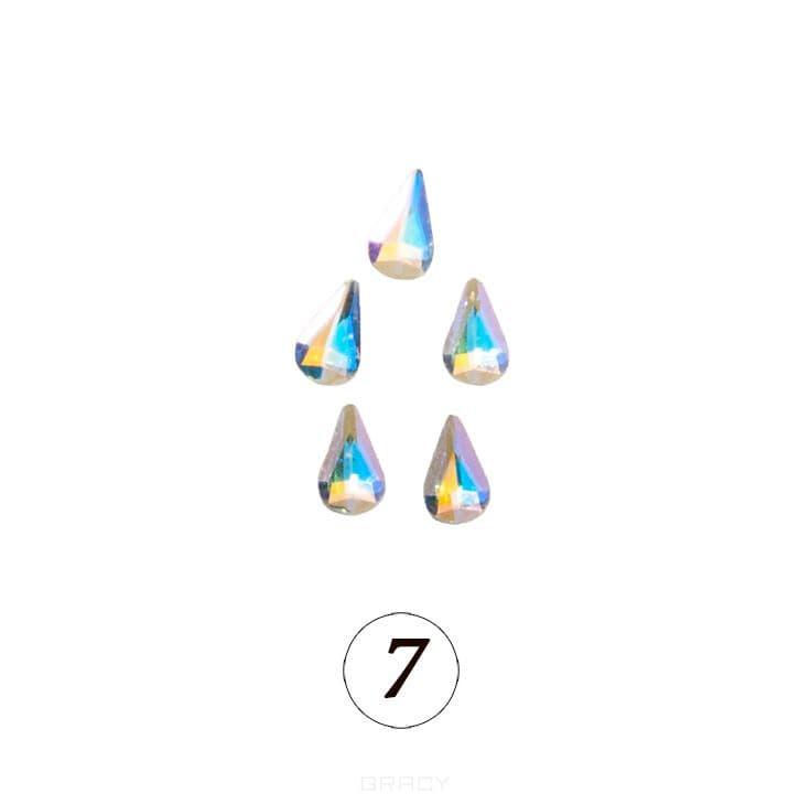 Купить Planet Nails, Цветные фигурные стразы в ассортименте (76 видов), 5 шт/уп Планет Нейлс №7