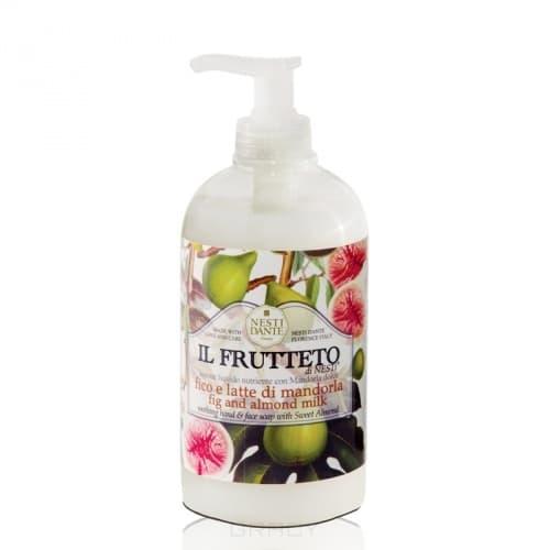 Nesti Dante, Жидкое мыло Инжир и миндальное молоко Il Frutteto, 500 млGreenism - эко-серия для ухода<br><br>