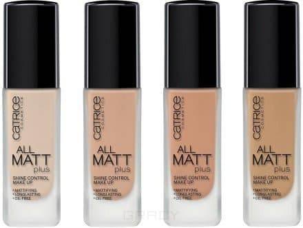 Основа тональная All Matt Plus Shine Control Make Up, 30 мл (4 тона)Неотъемлемым элементом идеального макияжа в этом сезоне является идеальный матовый тон лица. Тональные крема из серии All Matt Plus - Shine Control Make Up контролируют появление нежелательного блеска в течение всего дня!&#13;<br> &#13;<br> Шелковистая текстура, мельчайшие светоотражающие пигменты, а также отсутствие в составе продукта масел, позволяют тональному крему не только качественно скрыть недостатки на коже, но придать ей невероятную гладкость, сияние, бархатистый матовый финиш без эффекта маски.&#13;<br> &#13;<br> Особенности: &#13;<br> - Матирующая текстура. Не содержит масел.&#13;<br> - Стойкость до 18 часов.&#13;<br> - Плотное покрытие.&#13;<br> &#13;<br> Продукт одобрен дерматологами.&#13;<br> &#13;<br> Состав: &#13;<br>Aqua (water), Cyclopentasiloxane, Cyclohexasiloxane, Glycerin, Peg/ppg-18/18 Dimethicone, Titanium Dioxide (nano), Zinc Oxide, Sodium Chloride, Triethylhexanoin, Stearoyl Inulin, Dimethicone Crosspolymer, Methyl Methacrylate Crosspolymer, Polysorbate 80, Acrylates/c12-22 Alkyl Methacrylate Copolymer, Hydrated Silica, Peg-10 Dimethicone, H...<br>