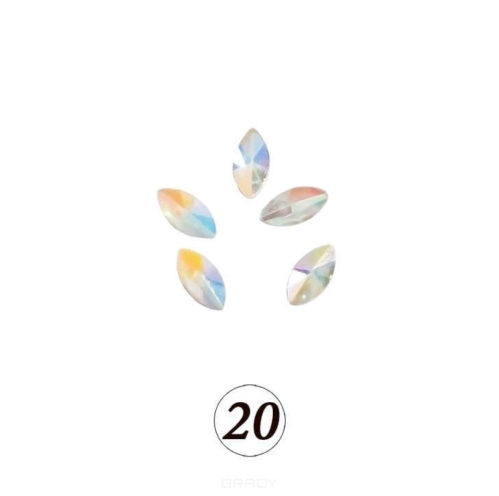Planet Nails, Цветные фигурные стразы в ассортименте (76 видов), 5 шт/уп Планет Нейлс №20 фото