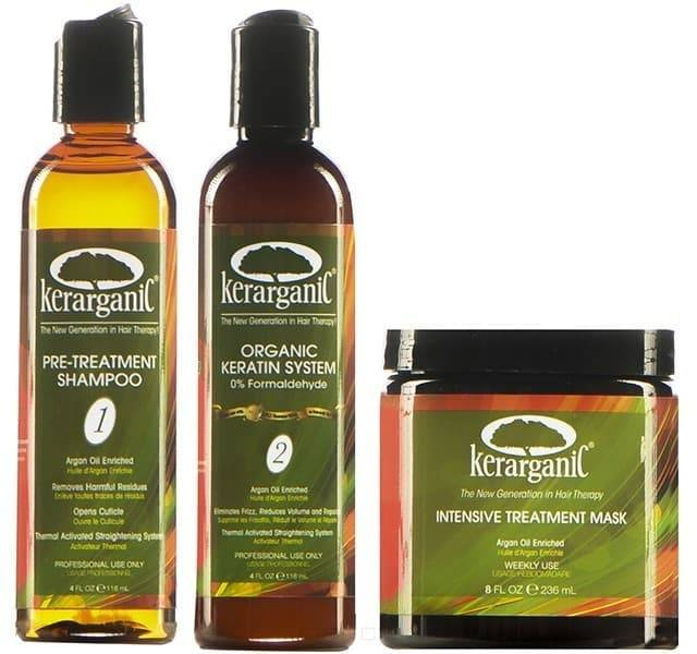 Kerarganic, Набор для кератинового выпрямления Organic Keratin (без формальдегида), 3 флак. по 473 млGreenism - эко-серия для ухода<br><br>