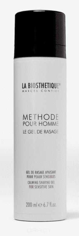La Biosthetique, Успокаивающий гель для идеально гладкого бритья Methode Pour Homme Le Gel de Rasage, 200 мл la biosthetique methode le gel douche sondergrosse гель для стайлинга с экстрасильной фиксацией 100 мл