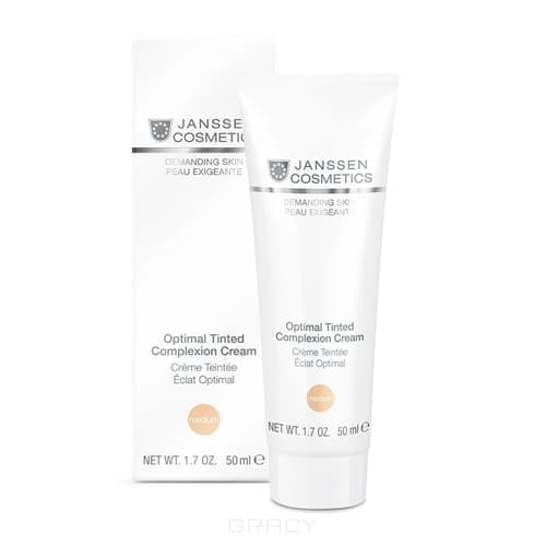 Janssen, Дневной крем Оптимал комплекс SPF-10 Medium Demanding Skin janssen demanding skin firming face neck