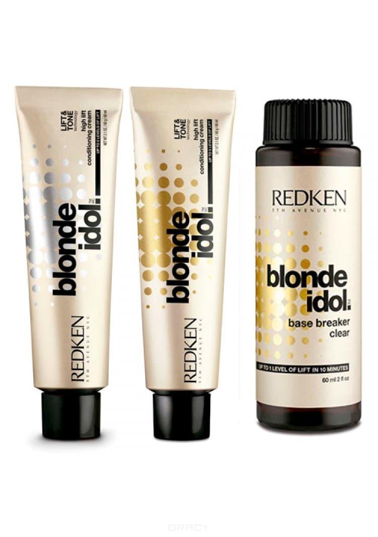 Краситель для блондирования Blonde Idol Backbar, 60 мл (8 оттенков)Редкен Блонд Айдол Хай Лифт Осветляющая крем краска для поднятия тона до 5 уровней за раз без предварительного осветления и последующего тонирования. Бережно осветляет до пяти уровней тона и эффективно ухаживает за волосами. Лучше использовать на светлых оттенках. Идеально подходит для уровней 5-7.&#13;<br>&#13;<br>  &#13;<br>&#13;<br>&#13;<br>Способ применения:&#13;<br>&#13;<br>Пропорции смешивания: Смешивать с проявителем Редкен Про-Оксид 20 (6%), 30 (9%) или 40 (12%) волюм в пропорции 1:2. Время обработки: 45 минут. Не используйте тепло. Для всех техник окрашиваний, наносить на сухие волосы.<br>