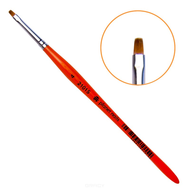 Planet Nails, Кисть для китайской росписи из синтетического волоса квадратная № 4Нейл-арт и дизайн ногтей<br><br>