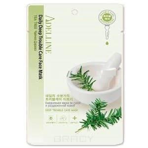 Adelline, Маска тканевая для лица Чайное дерево ежедневная для сухой и раздраженной кожи, 22 млМаски для лица<br><br>