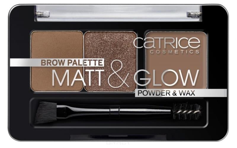 Catrice, Палетка для макияжа бровей: тени, воск Brow Palette Matt & Glow (2 тона)