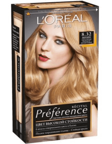 LOreal, Краска для волос Preference (27 оттенков), 270 мл 8.32 Берлин светло-русый золотисто-перламутровыйОкрашивание<br><br>