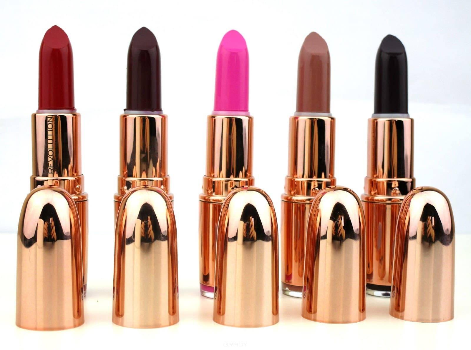 Купить MakeUp Revolution, Помада для губ Rose Gold Lipstick, 4 гр (4 оттенка), Diamond Life, темно-сливовый