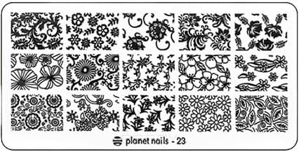 Planet Nails, Пластина для Stamping Nail Art (25 видов) - 23