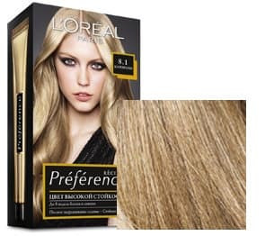 L'Oreal, Краска для волос Preference (27 оттенков), 270 мл 8.1 Копенгаген светло-русый пепельный фото