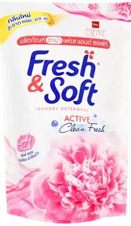 Lion Thailand, Гель для стирки всех типов тканей концентрированный Сладкий Поцелуй Fresh&Soft, 400 мл