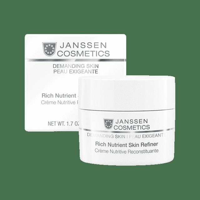 Janssen, Обогащенный дневной питательный крем Rich Nutrient Skin Refiner (SPF 15) Demanding Skin, 50 мл janssen photo ageing face guard лёгкая солнцезащитная основа oil free под дневной крем spf 15 50 мл