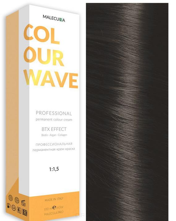 Купить Malecula, Профессиональная перманентная крем-краска Colour Wave, 100 мл (103 оттенка) 7.11 Intense Ash Natural Blond/Интенсивно-пепельный натуральный блондин