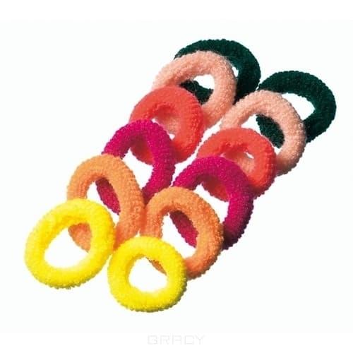 Comair, Резинки махровые, разноцветные, 12 штЗажимы, шпильки, резинки<br><br>