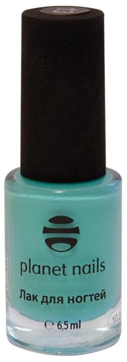 Planet Nails, Лак для Stamping Nail Art, 6,5 мл (12 оттенков) Планет Нейлс Мятный (13) 24 pcs stylish moustache color block pattern nail art false nails