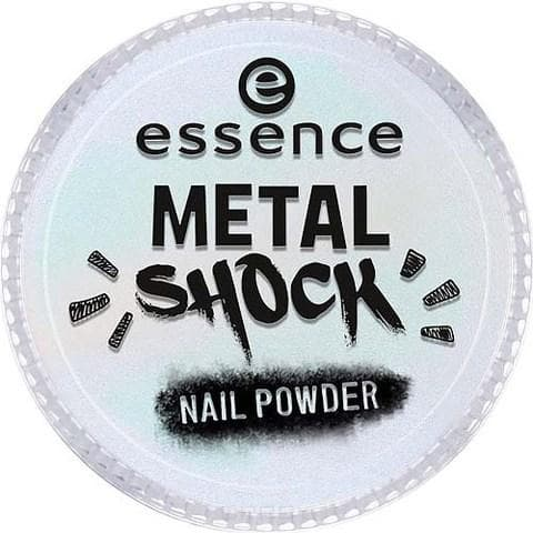 Essence, Эффектная пудра для ногтей Metal Shock Nail Powder, 9 гр (6 оттенков) №06, зеленый перламутр цена